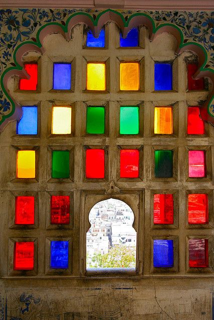 9b7e80e6a58c Rajasthan. colored glass ...