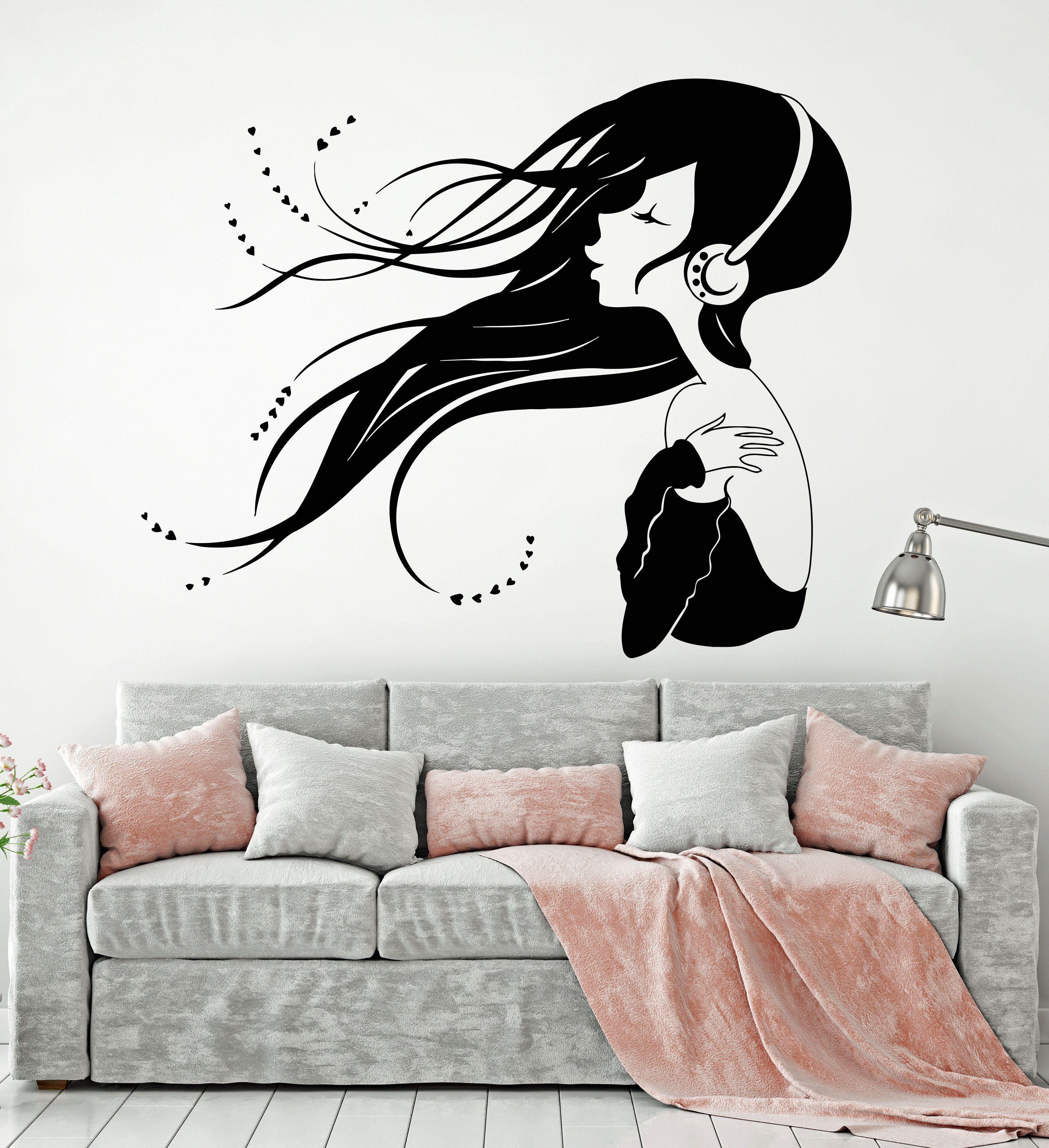 Décoration Maison Autocollant Mural Art Décalque Musique Note amovible papier peint Vinly