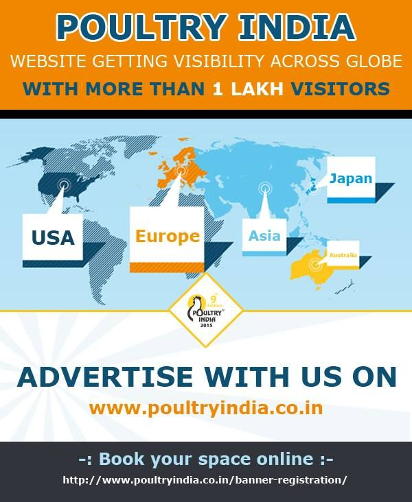 Advertise with Poultry India and drive prospective customer to your website.  Register today and Book a Advertisement space @  poultryindia.co.in/banner-registration