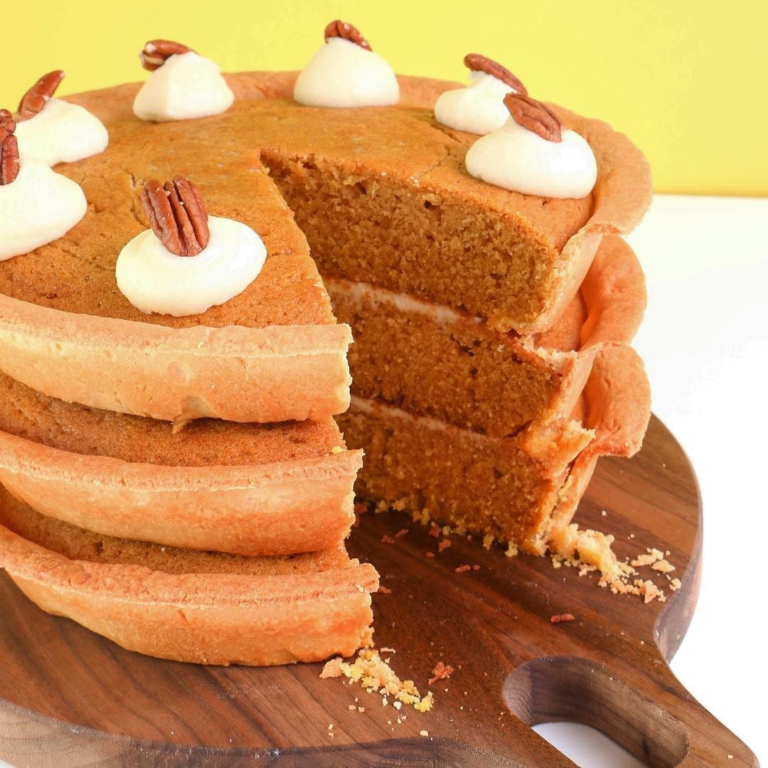 A special 3layer pumpkin cake pie for thanksgiving cake