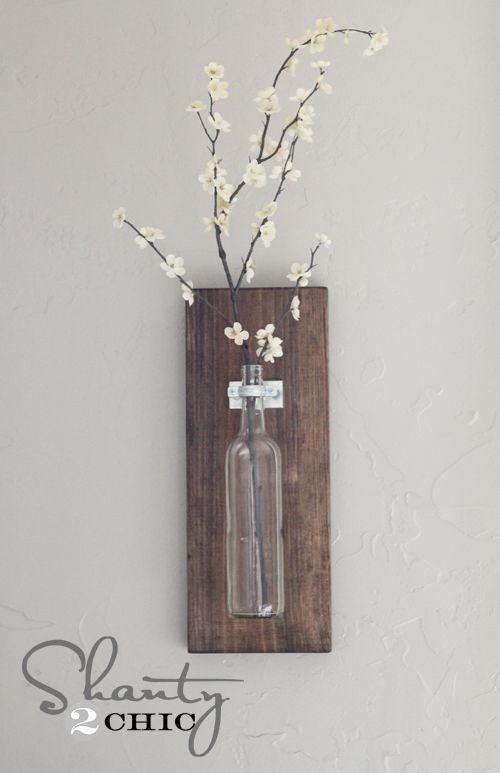 Wine Bottle Wall Vase Crafty Ideas Pinterest Bottle Cobalt