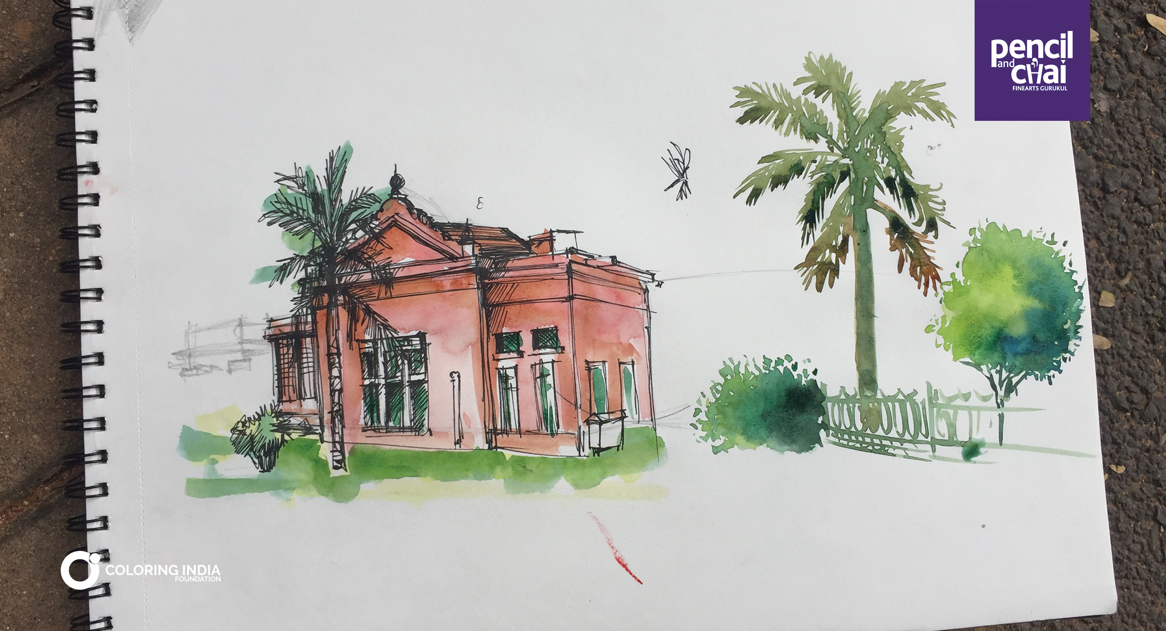 Central library captured at our plein air sketching sessions hit the floor with us watercolor pleinair art fineart bangalore