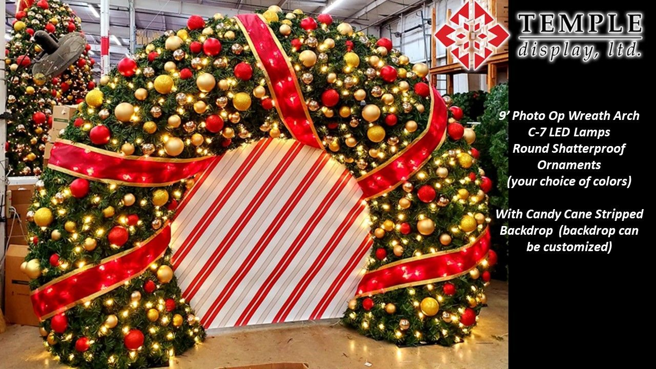 Commercial Holiday Decorations Temple Display In 2021 Commercial Holiday Decor Commercial Christmas Decorations Outdoor Holiday Decor