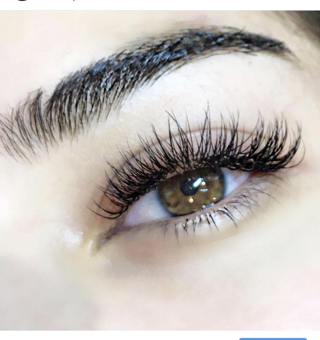 6ef2c11e7d1 Hybrid full set - Silk lashes | Eyelash Extensions in 2019 | Lash ...