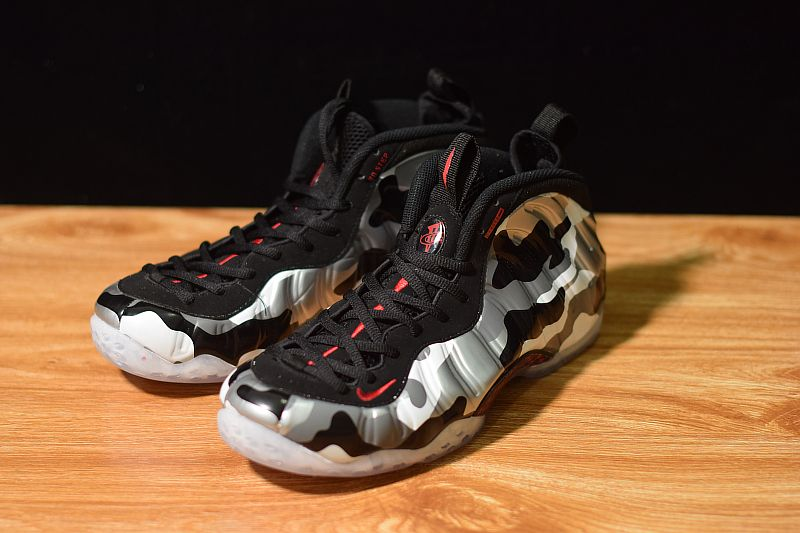 "buy online ff717 00a44 2018 Nike Air Foamposite One PRM ""Fighter Jet"" Black Hyper Red-Dark Grey-White  575420-001"