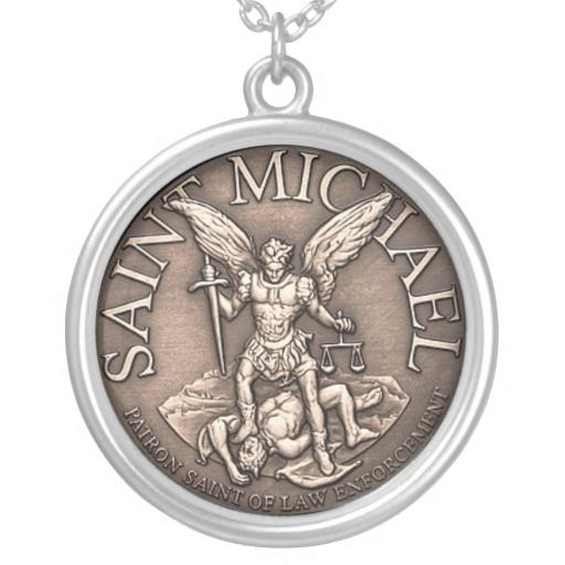 me protection necklace shield item saint st amulet pendant jewelry archangel michael protect men color