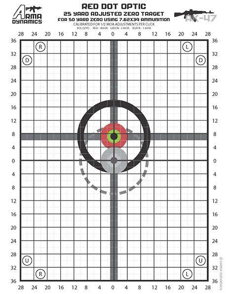image relating to Printable Zeroing Targets identified as Pin upon my AK-47, a CAI Zastava M70ab2 Yugoslavian w