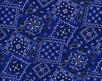 Quilt / Quilting Fabric Blazin Bandana Western Wear Fabric Royal ... : western quilting fabric - Adamdwight.com