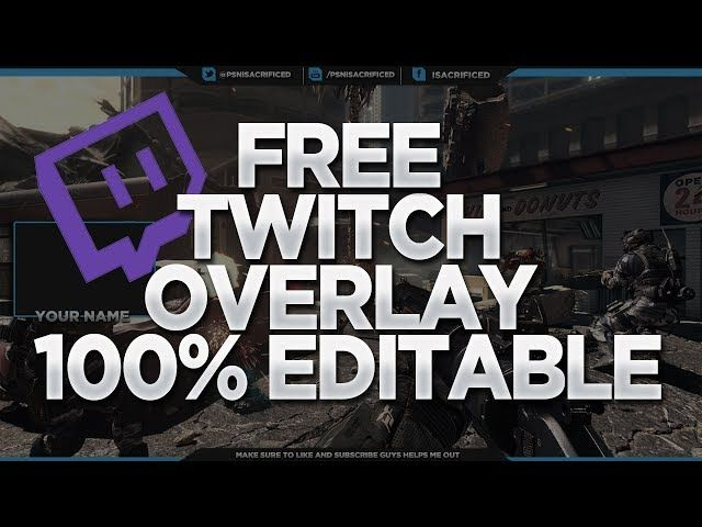 free gfx free twitch overlay template 100 editable psd giveaway stream guides