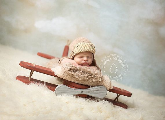 Wooden plane photography prop airplanenewborn prop plane aviator aviator hat