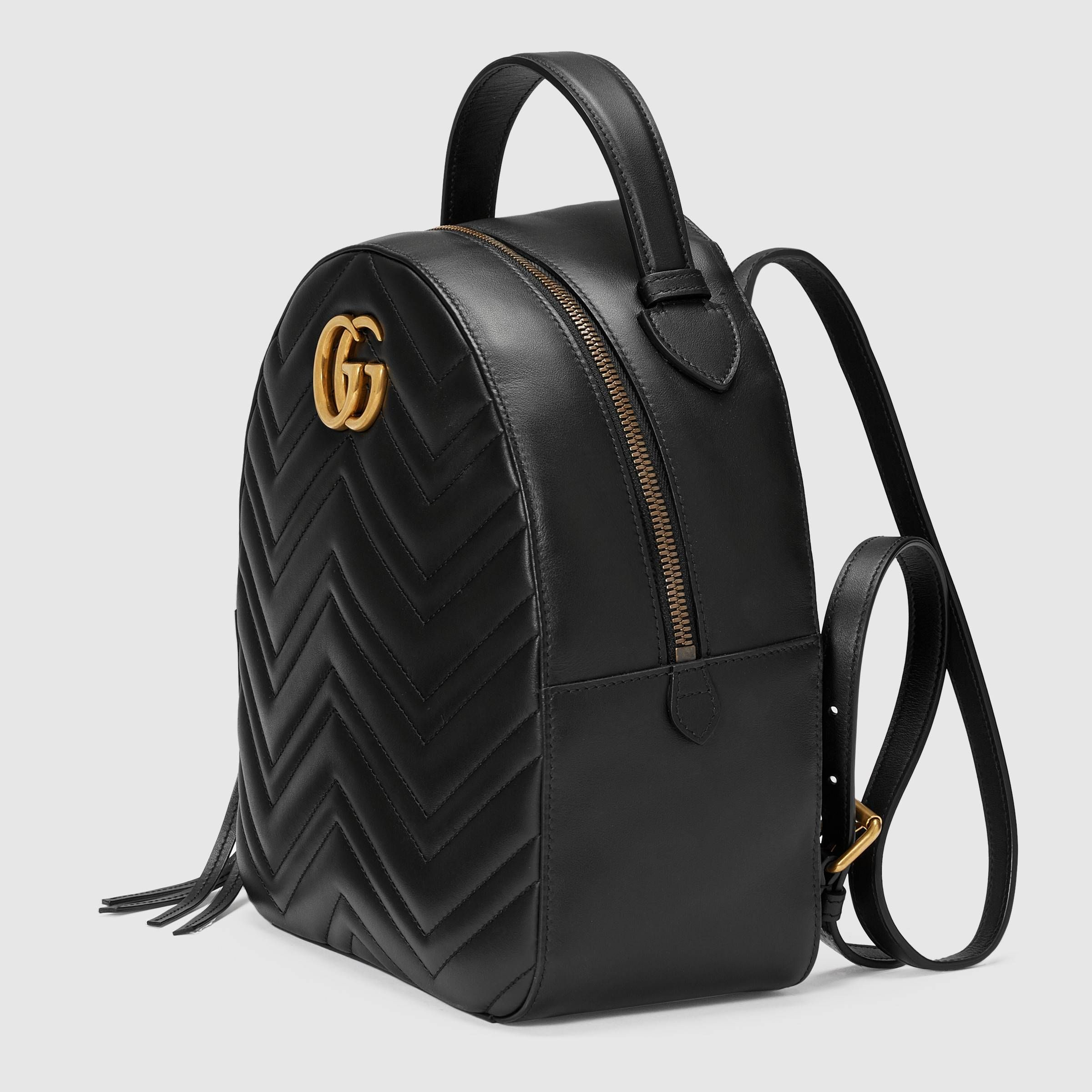 156fdaf4299b GG Marmont quilted leather backpack in Black quilted leather