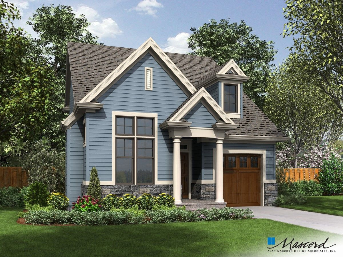 Mascord Plan 21132 The Dunstable Craftsman House Plans Cottage Style House Plans Cottage House Plans