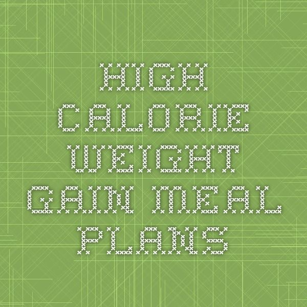 weight gain meal plan pdf