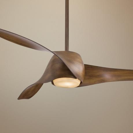 "For the bedroom: 58"" Artemis Distressed Koa Finish Ceiling Fan."