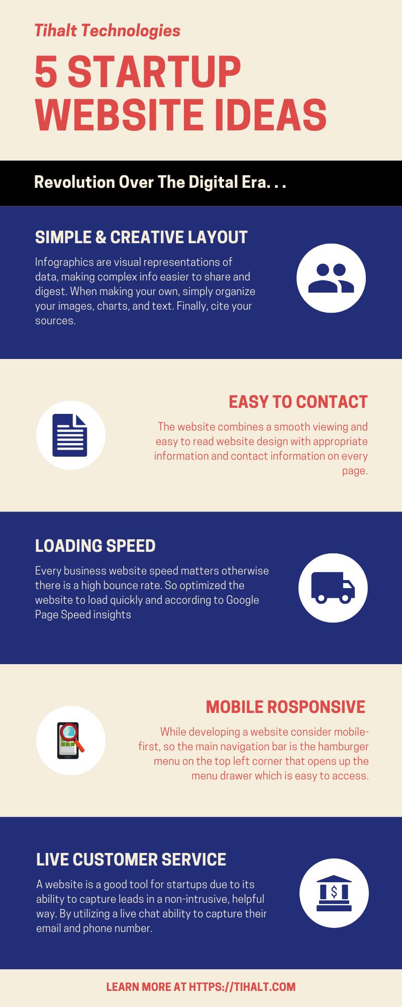 Tob 5 Startups Website Ideas Tihalt Technologies Startup Website Web Design Website Design Services