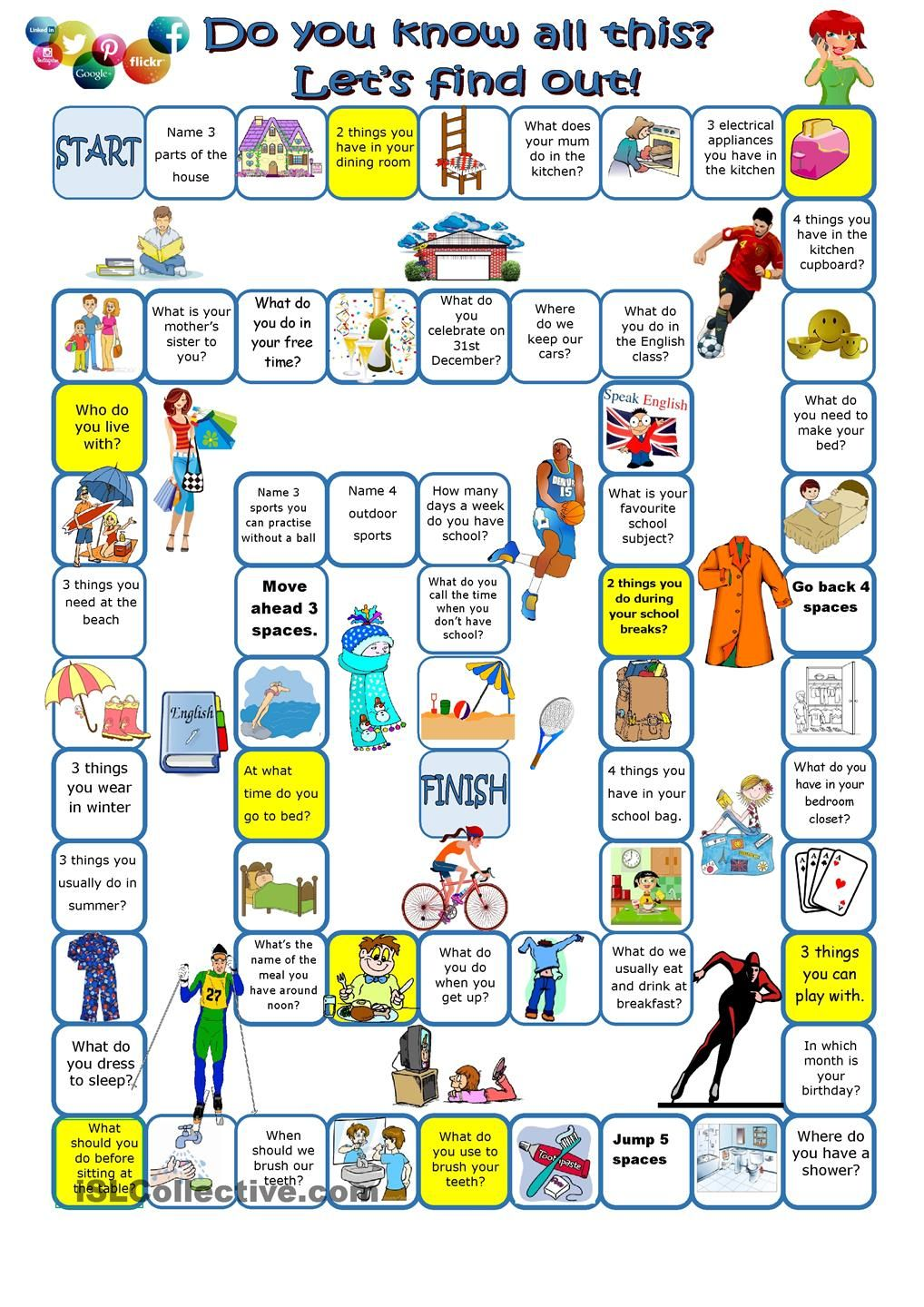 Do You Know All This Let S Find Out Englisch Spiele