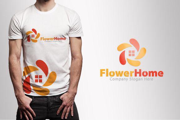 Flower Home & House Logo by Creative Dezing on @creativemarket