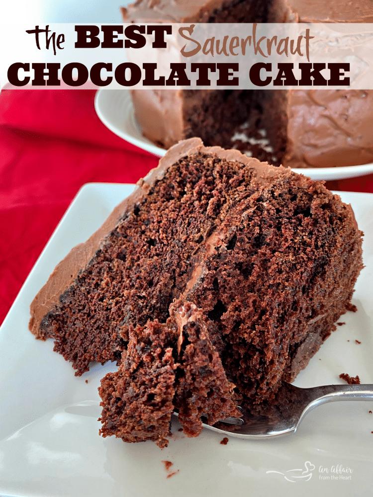 Sauerkraut Chocolate Cake Recipe In 2020 Sour Cream Chocolate Frosting Sour Cream Cake Delicious Desserts