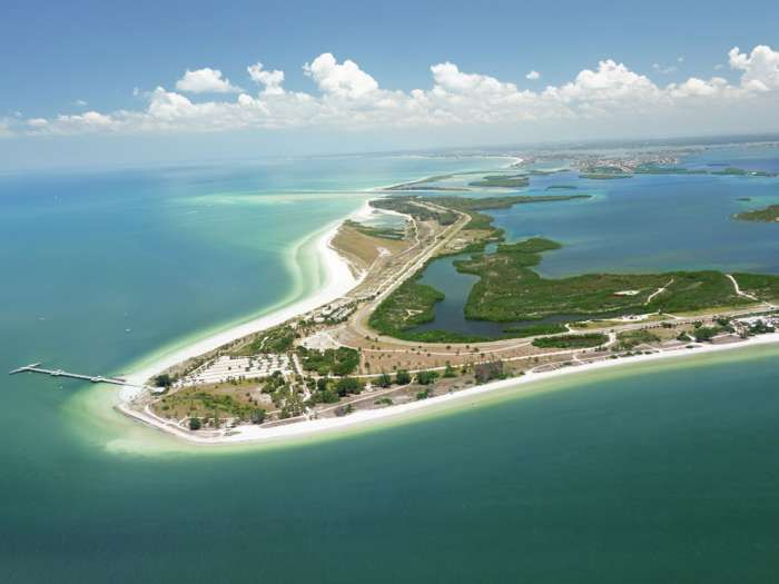 Fort Desoto Park Consists Of Five Islands Rimmed By Sugar