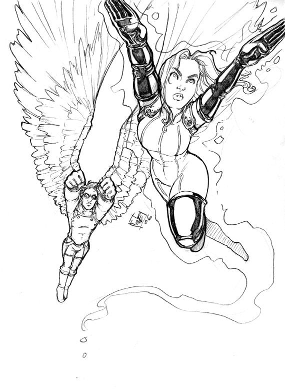 Telepath And Michael In Flight By Comfortlove On Deviantart
