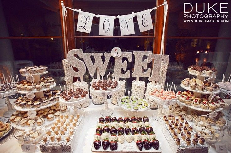 Mesas de dulces para bodas bodas candy table and cake table - Mesa de dulces para bodas ...