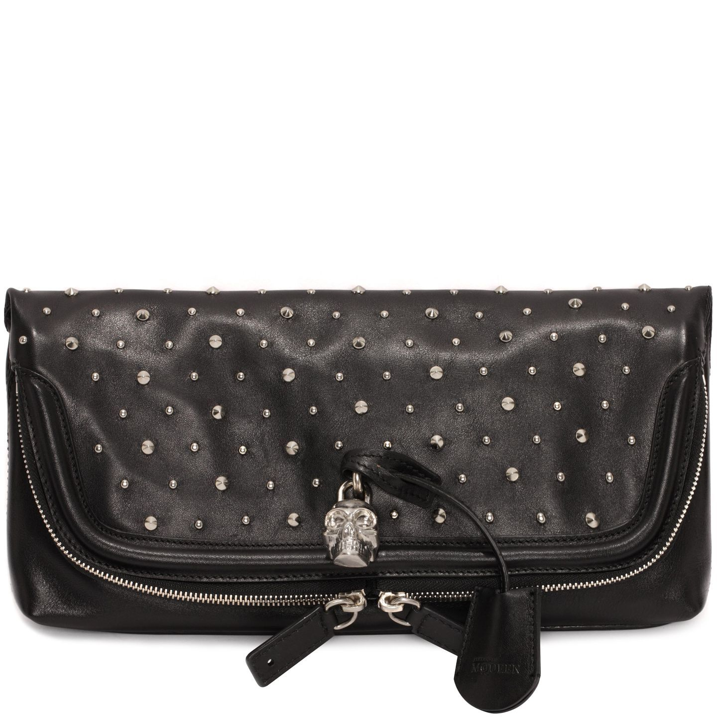 Studded Leather Skull Padlock Clutch Alexander McQueen | Clutch | Bags |