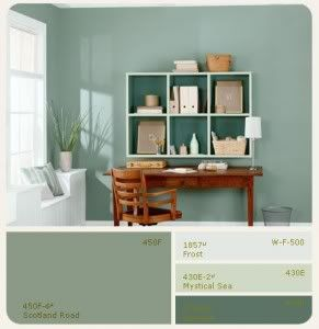 exciting home office paint color ideas | Behr Scotland Road - other option for bathroom | Random ...