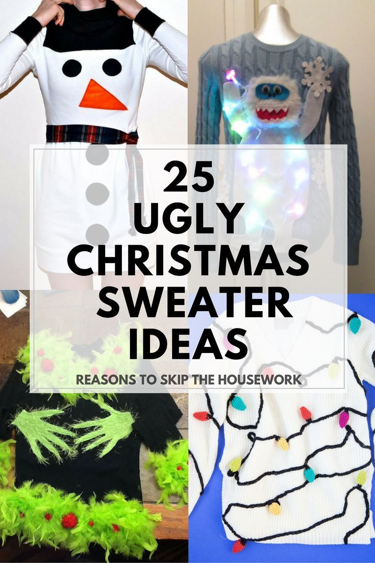 Ugly Christmas Sweater Ideas | Pinterest | Ugliest christmas ...