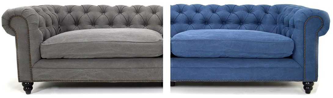 Superieur Fitzgerald Sofa Blue And Gray $1599.00 #homedesignstoremiami Unique,  Vintage, Rustic, Exotic Furniture