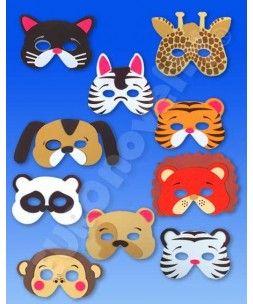 mascaras de animales foamy - Buscar con Google | Fomi | Pinterest ...