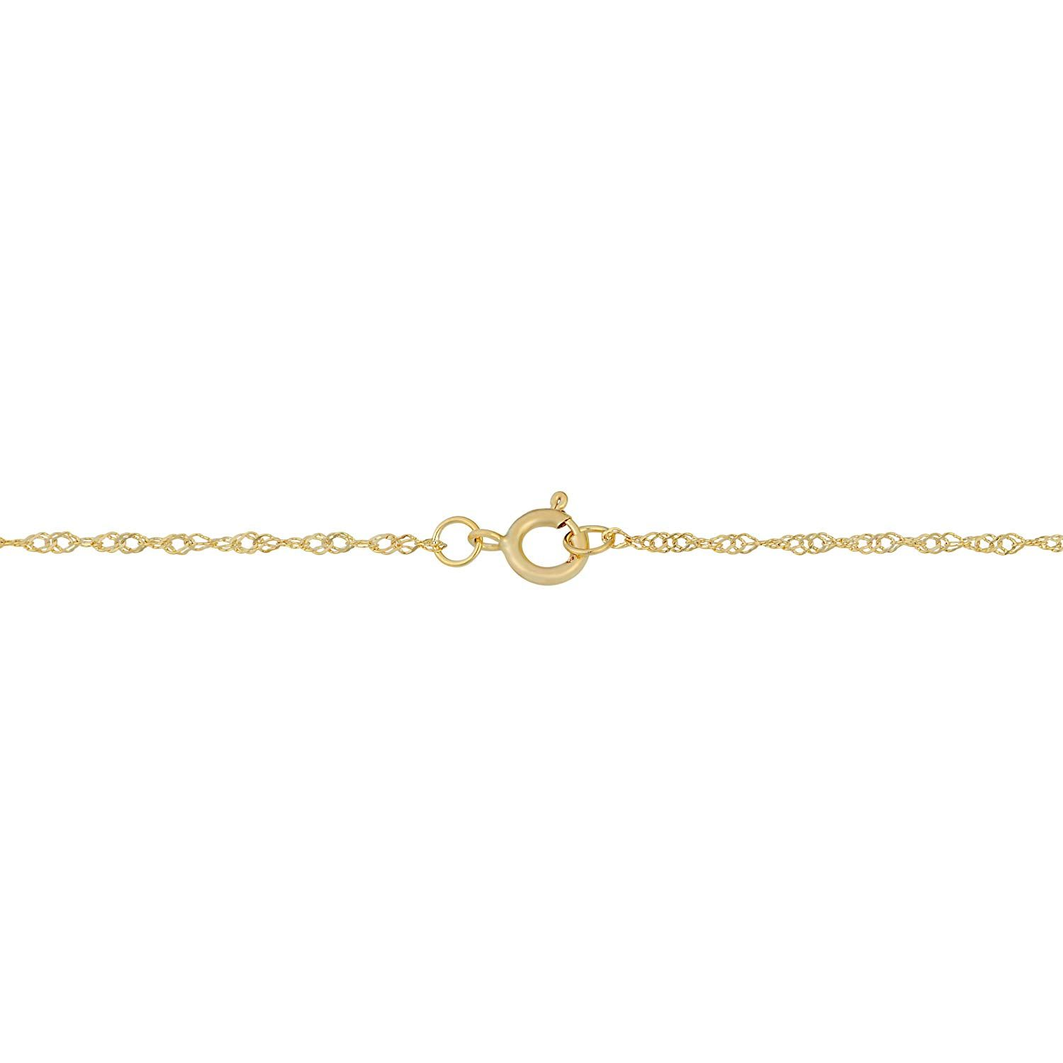 0034f163796be 14k Yellow Gold 0.85mm Dainty Singapore Chain (14, 16, 18, 20, 22 ...