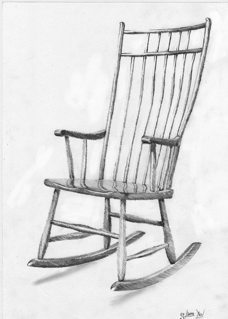 Rocking Chair By Xenonnati On Deviantart Chair Drawing Art Chair Rocking Chair