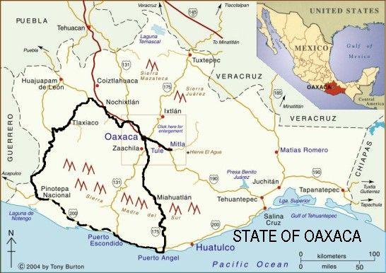 oaxaca state map MEKSYK 26 mapy Pinterest Oaxaca