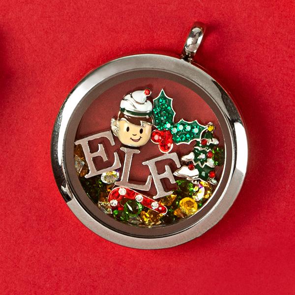 NEW Floating Locket Charm ELF Christmas