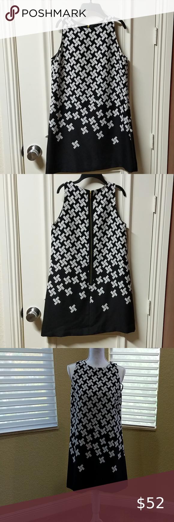 Tahari Black White Dress 6 Black White Dress White Dress Clothes Design [ 1740 x 580 Pixel ]