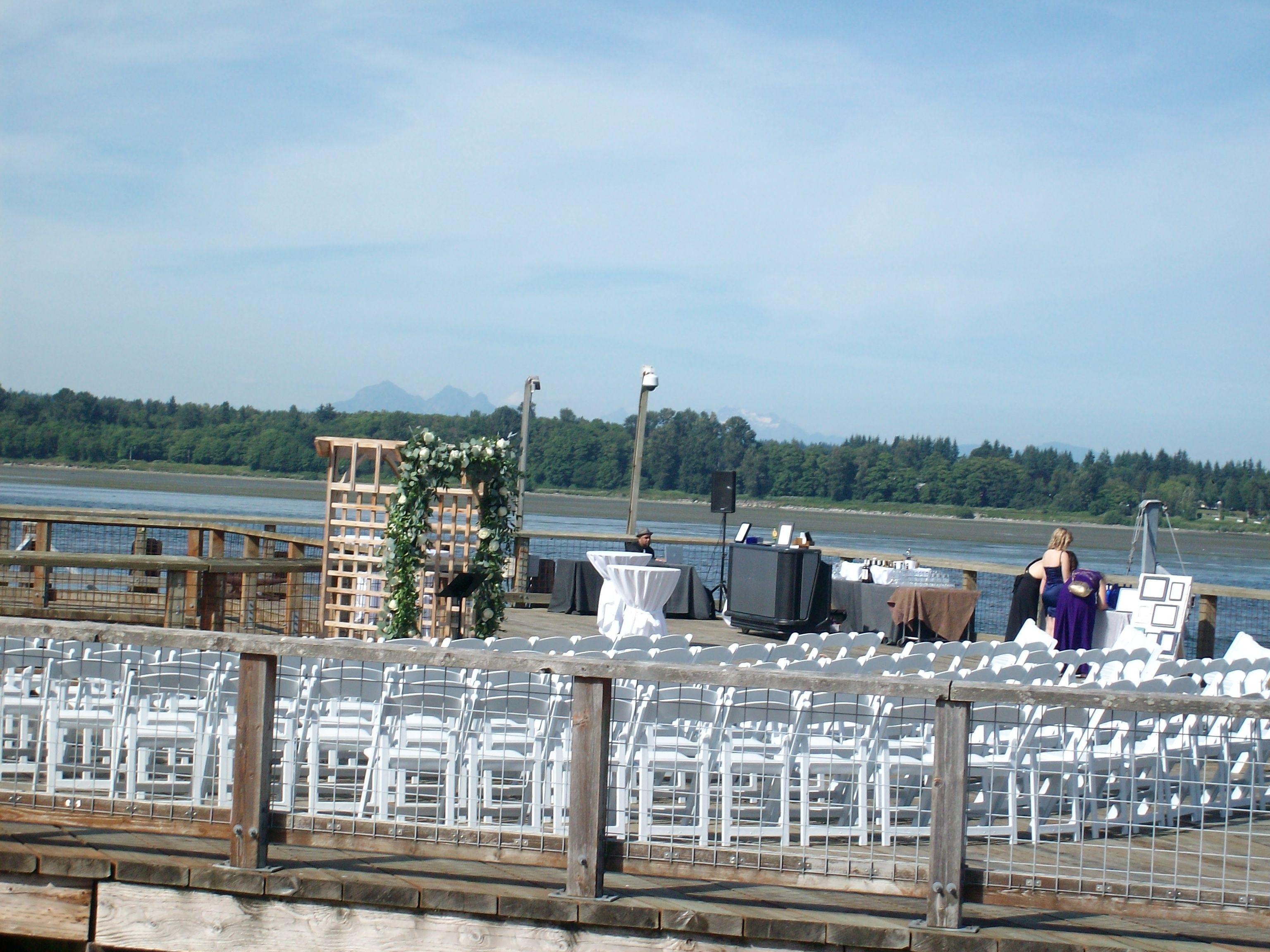 Wedding Ceremony on the Sunset Dock
