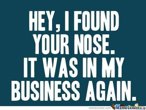 Nosy People | Projects to Try | Funny quotes, Funny, Sarcasm