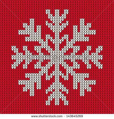 Knit Snowflake Ornament Pattern Knitting Pinterest Snowflake