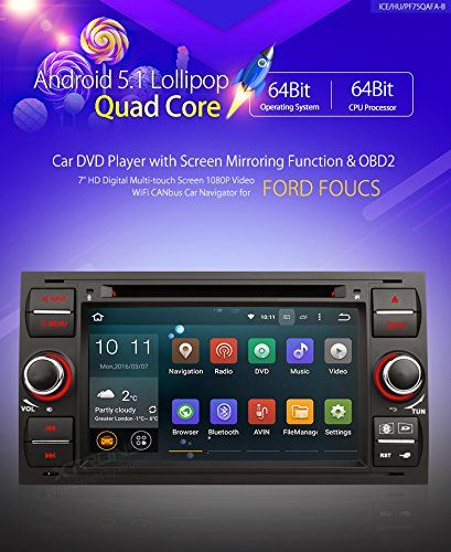 XTRONS Quad Core 7 Android 51 Lollipop Car Stereo Multitouch