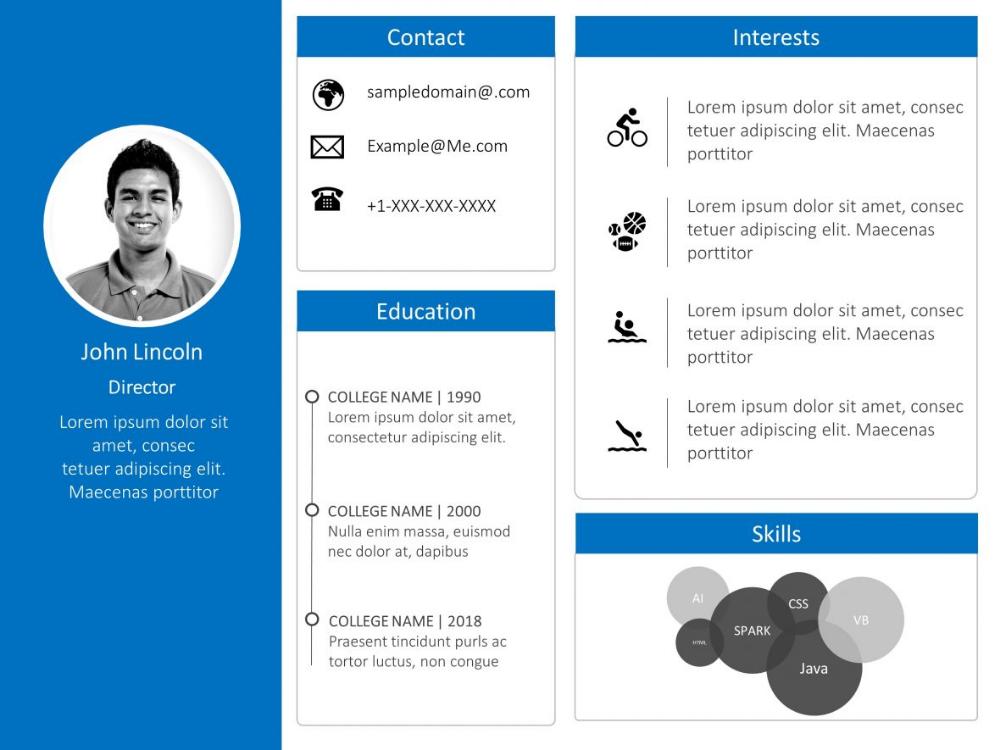 Employee Resume Powerpoint 6 Powerpoint Presentation Powerpoint Templates Presentation Slides Templates