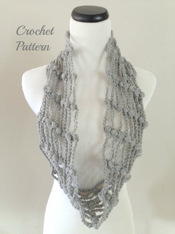 Crochet Pattern Set Crochet Infinity Scarf Pattern Crochet