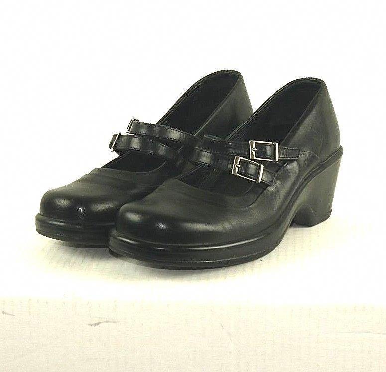 Dankso Babette Double Strap Mary Jane Heel Black Euro Size 38 Us 7 5
