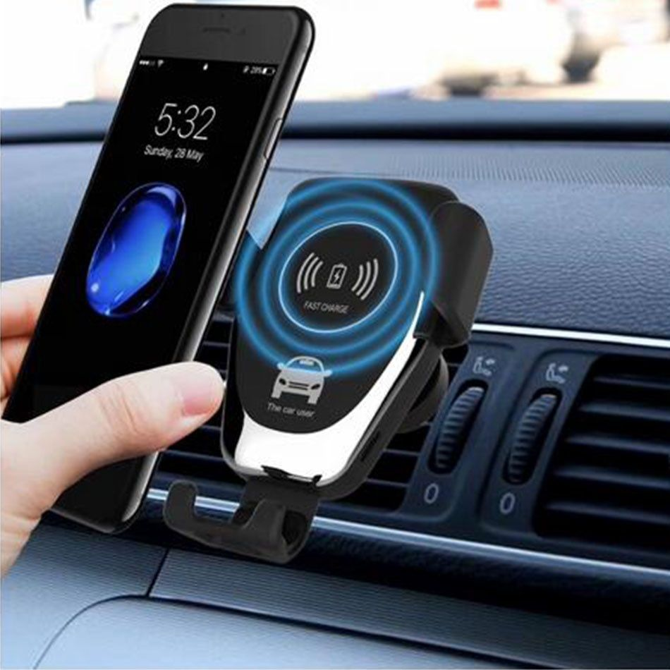 Qi Car Fast Wireless Charger For iPhone 8 8 Plus XS 7.5W 10W