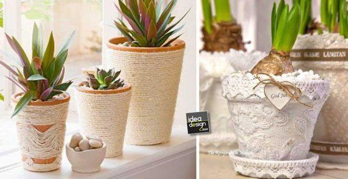 Shabby Chic Fai Da Te : Vasi di terracotta shabby chic fai da te idee tutorial diy