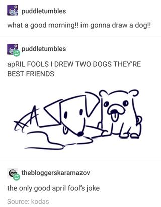 April Fools Doggo