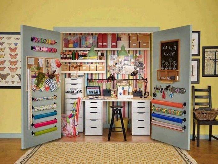 Diy craft storage ideas dream home pinterest craft for Kids craft room