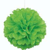 Green Honeycomb Hanging Decoration Puff Ball