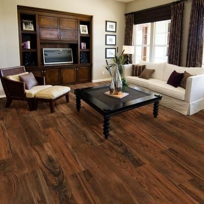 Trafficmaster Allure Ultra Wide Red Hickory 8 7 In X 47 6 Resilient Vinyl Plank Flooring With Simplefit End Joint 20 06 Sq Ft