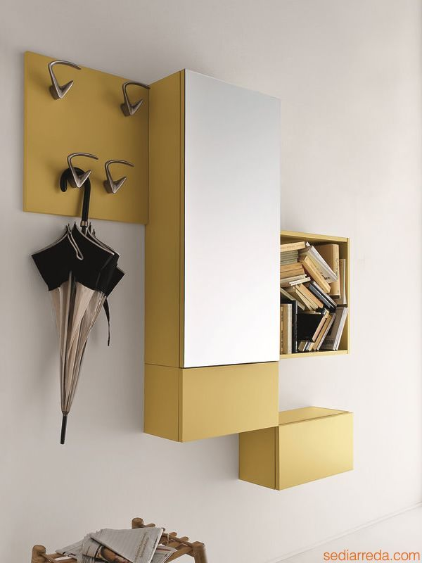 Cinquanta 2 Entrance furniture by Birex | Decorating with Yellow ...