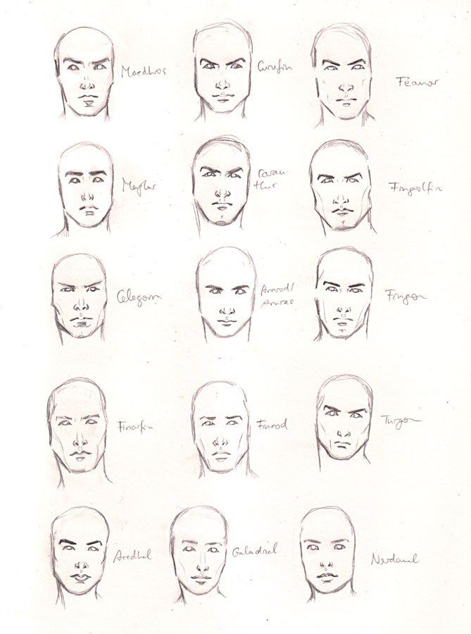 One Little Two Little Fifteen Little Noldor Face Drawing Reference Male Face Drawing Face Drawing